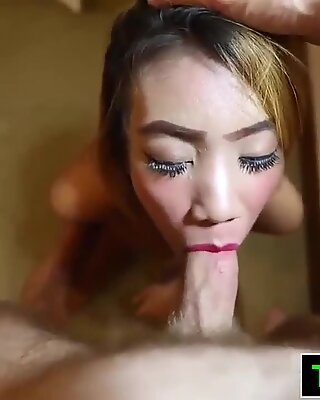 Tattooed Thai In Heels Sucks And Fucks