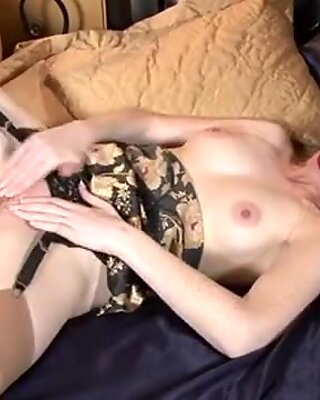 Redhead milf massages her pussy hard
