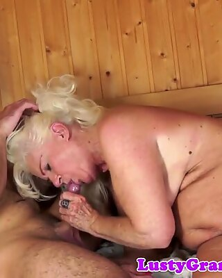 Finger banged mature gets doggystyled