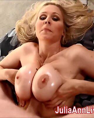busty mummy Julia Ann requests Cum on Her Tits!