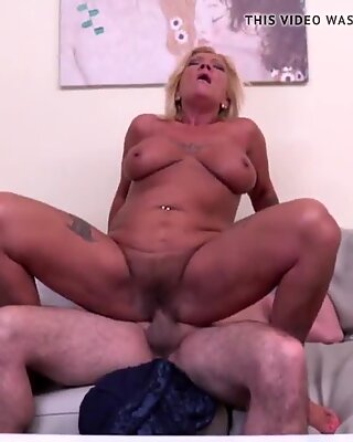 Hairy GILF takes hard cock like for last time