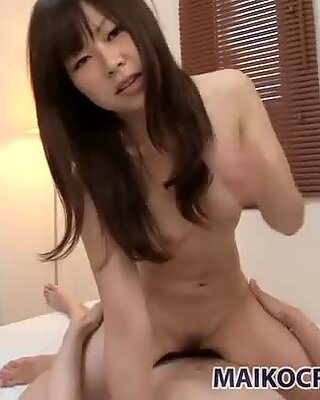 Porcelain skin booty of Shimomura Haruka fucked doggy style