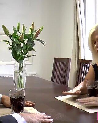 Cock sucking grandma butt fucked